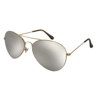 UrbanSpecs NYS6226MR-GLD Aviator Silver Mirror Sunglasses