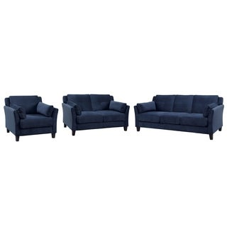 Furniture of America Pierson Contemporary 3-piece Flannelette Sofa Set
