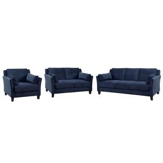 Furniture of America Pierson Contemporary 3-piece Flannelette Sofa Set