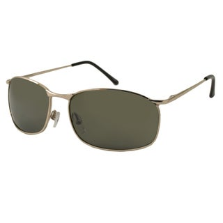 UrbanSpecs LR99758-GLD Square Green Sunglasses