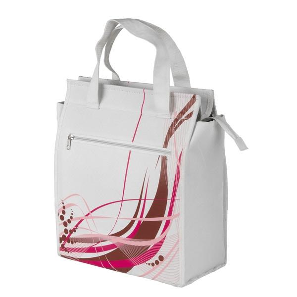 Ventura Amsterdam White Nylon Single Side Zipper Pannier Fashion Bag
