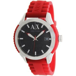 Armani Exchange Men's AX1227 Red Silicone Watch