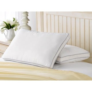 Exquisite Hotel Mesh Gusseted Gel Soft Pillow (Set of 2)