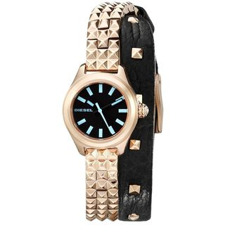 Diesel Women's DZ5448 'Kray Kray' Rose-Tone Stainless steel and Leather Watch