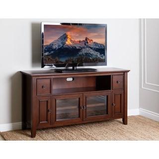 Abbyson Vienna Cherry Veneer Wood 65-inch TV Stand Console