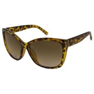 UrbanSpecs LR129254-YTRT Oversized Brown Gradient Sunglasses