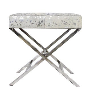 Forest Collection Silver Steel and Cowhide X-bench