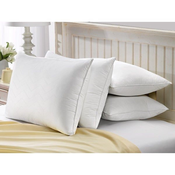 Exquisite Hotel Quilted Gel Filled Soft Pillow (Set of 4)