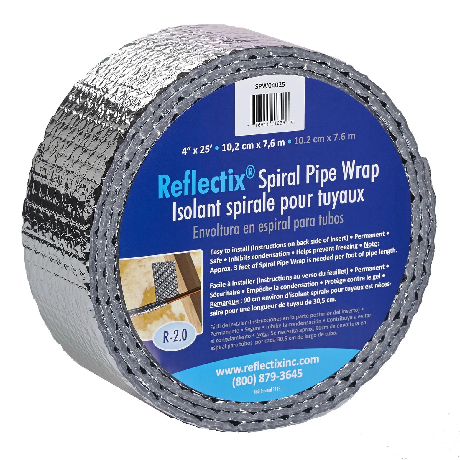 Reflectix SPW0402512 4 X 25 Spiral Pipe Wrap (Pipe Wrap 4x25)