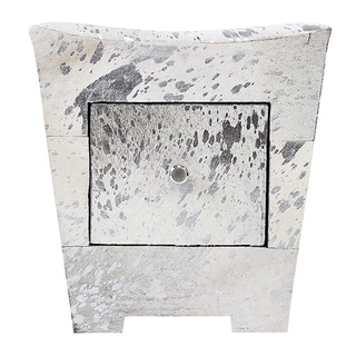 Forest Collection Silver Cowhide Side Table