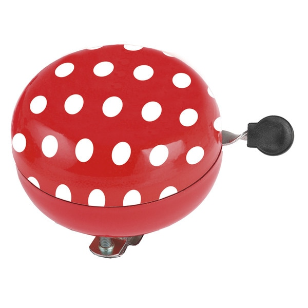 Ventura Red Stainless Steel 80-millimeters Wide Polka Dot Ding-dong Bell