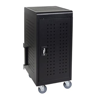 Luxor Black Steel Tablet and Chromebook Charging Cart