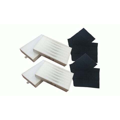 2pk Replacement Carbon Filter & 4 R Air Purifier Filter Kit, Fits Honeywell, Compatible with Part HRF-ARVP