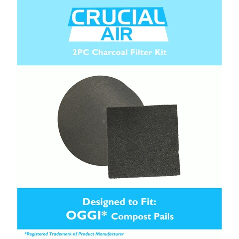 Replacement Charcoal Filter Kit, Fits OGGI Countertop Compost Pails, Compatible with Part 7321