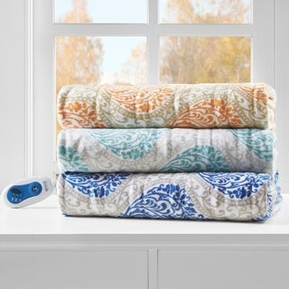 Beautyrest Sydney Printed Berber Reverse Heated Throw (3 options available)