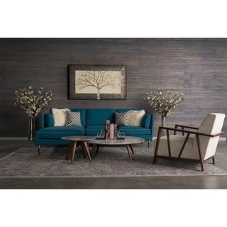 Florence 5-piece Mid-Century Teal Blue Living Room Set by RST Brands