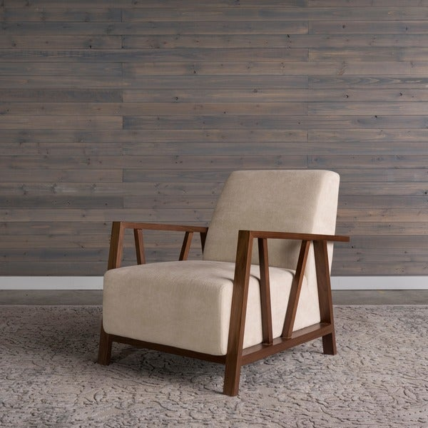 Shop Liberty Mid Century Modern Ivory Arm Chair By Rst