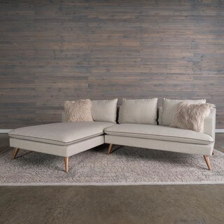 Marco Mid-Century Modern 2-piece Stonewashed Grey Sofa Sectional by RST Brands