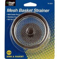 "Plumb Craft Waxman 7639310N 3-1/2"" Mesh Strainer Basket"
