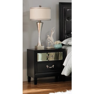 Coaster Devine Black MDF/Wood Nightstand