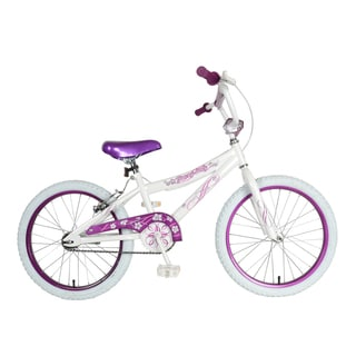 Piranha White and Purple 20-inch Girl's Bike