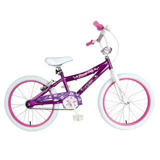 Piranha White and Purple 20-inch Girl's Bike