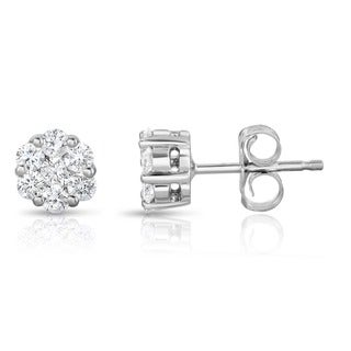 Noray Designs 14k White Gold 1/4ct TDW Diamond Stud Earrings (G-H, SI1-SI2)
