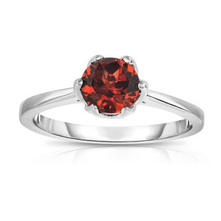 Noray Designs Sterling Silver 1ct TGW Garnet 6-prong Solitaire Ring