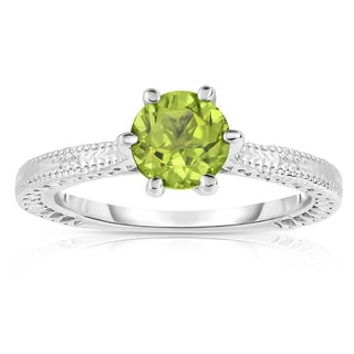 Noray Designs Sterling Silver 1ct TGW Peridot 6-prong Solitaire Ring