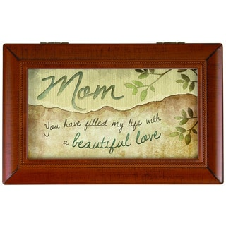 Carson Home Accents 'Beautiful Mom' Synthetic Wood Music Box