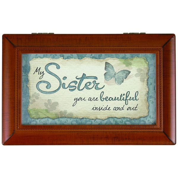 Carson Home Accents 'My Sister' Brown Synthetic Wood Music Box