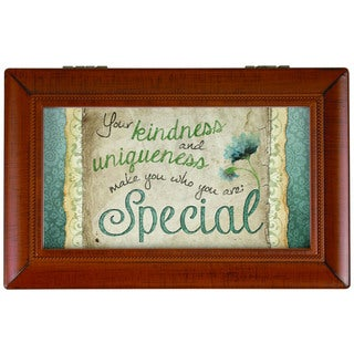 Carson Home Accents Brown Synthetic Wood 'Your Kindness' Music Box