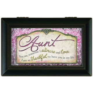 Carson Home Accents 'Aunt' Black Synthetic Wood Music Box