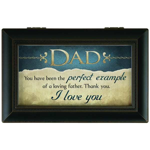 Carson Home Accents Black Synthetic Wood 'Dad' Music Box