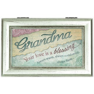 Carson Home Accents 'Love Grandma' Silver Music Box