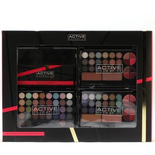 Active Fashionista Colouor Collection 4-piece Interchangeable Makeup Compact Kit