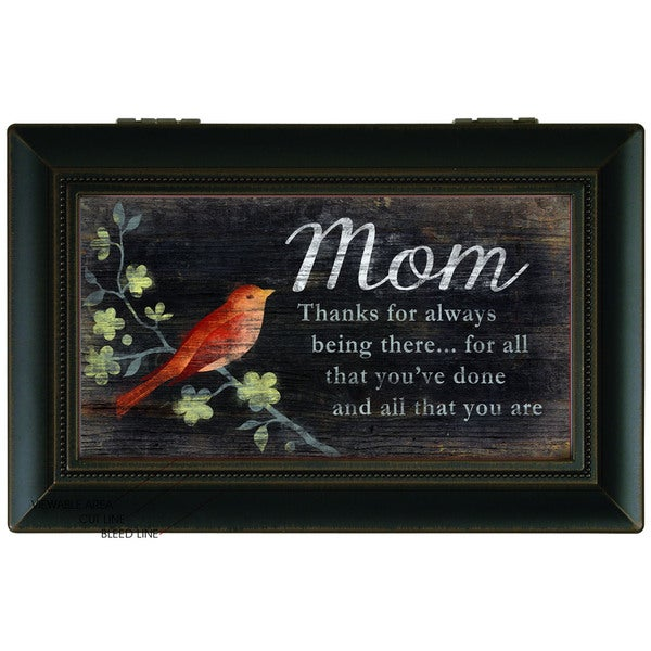 Carson Home Accents Black Wood 'Thanks Mom' Music Box