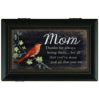 Carson Home Accents Black Wood 'Thanks Mom' Music Box