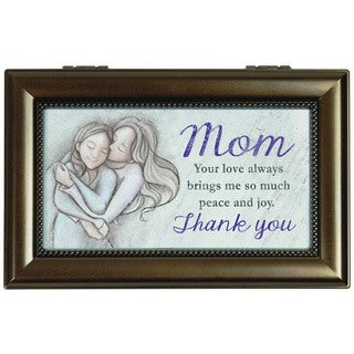 Carson Home Accents Brown Wood 'Mom Thank You' Music Box