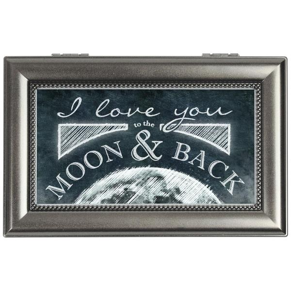 Carson Home Accents 'Moon and Back' Silver Synthetic Wood Music Box
