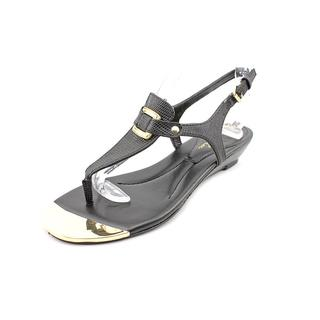 Marc Fisher Women's Barria Black Synthetic Sandals