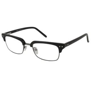 V Optique Square Shiny Black Reading Glasses