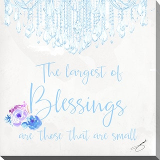 """BY Jodi """"Baby Blessings In Blue"""" Giclee Stretched Canvas Wall Art"""