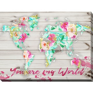 "BY Jodi ""You Are My World 2"" Giclee Stretched Canvas Wall Art"