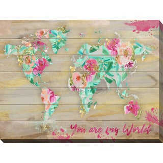 "BY Jodi ""You Are My World 1"" Giclee Stretched Canvas Wall Art"