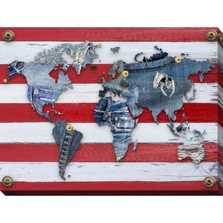 """BY Jodi """"Traveling Pants 2"""" Giclee Stretched Canvas Wall Art"""