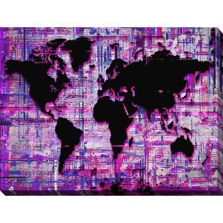 "BY Jodi ""Mad World Purple"" Giclee Stretched Canvas Wall Art"