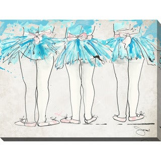 "BY Jodi ""Dance Class "" Giclee Stretched Canvas Wall Art"