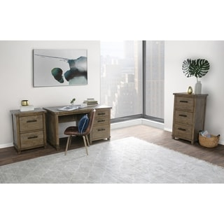 Kasey Beige Wood Handcrafted 3-drawer Desk by Kosas Home