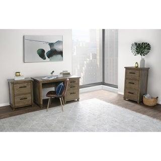 Kosas Collections Kasey Beige Wood Handcrafted 3-drawer Desk